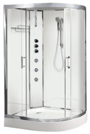 Opus 04 Left White Shower Cabinet