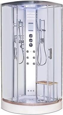 LW3 800mm white shower