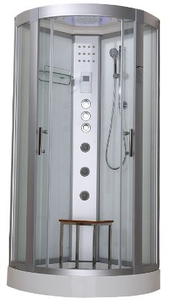 Hydro Plus Shower Cabin White