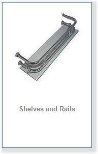 shower cabin shelves and racks