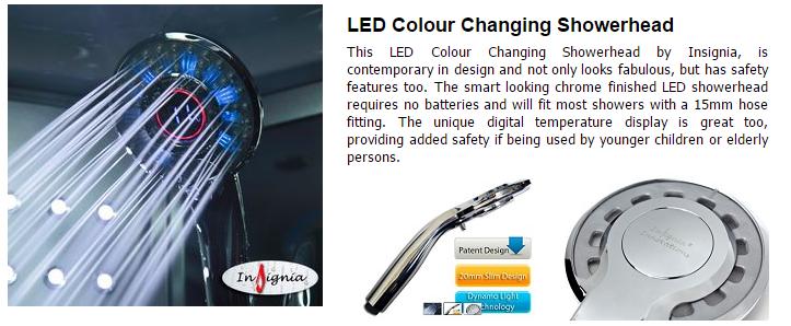 LED DIGITAL HANDSHOWER