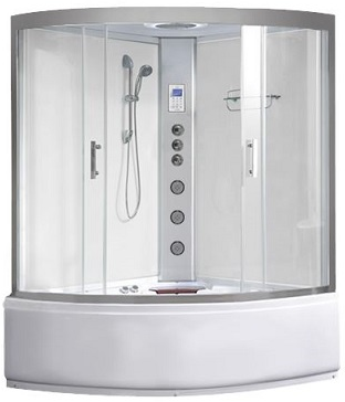 Alto ST Whirlpool Steam Shower Bath White