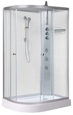 Opus 04r shower cabinet white