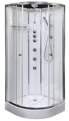 Opus 01 shower cabinet white