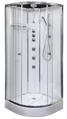 opus 03 shower cabinet - white