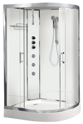 Opus04L White Shower Cabin - Opus 04 Left