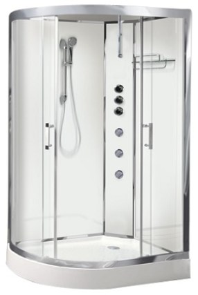 Opus04R White Shower Cabin - Opus 04