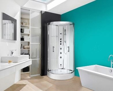 shower - build-in steam room