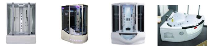 showers - whirlpool steam type