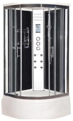 Black LW4 steam shower cabin