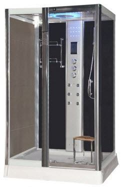 LW9 black 1200mm steam shower cabinet