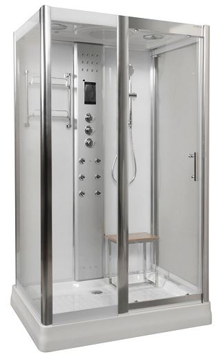 1200 x 900 shower with steam