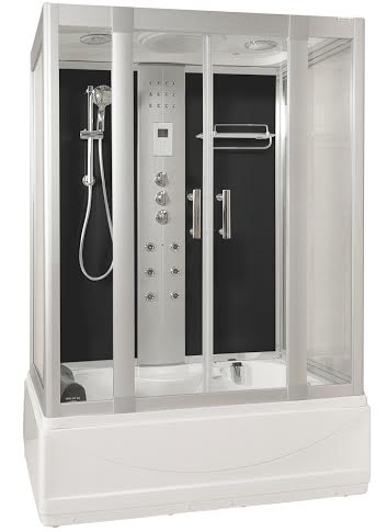 Whirlpool showers - LWW1 Black