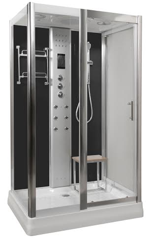 LW9 Black Steam Shower
