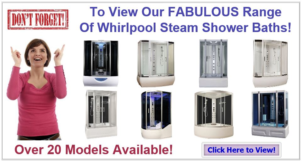 Whirlpool Steam Shower Bat and Large Shower Cabinshs