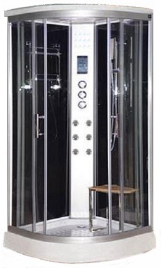 Lisna Waters Shower Cabins - LW11 Black Sparkle