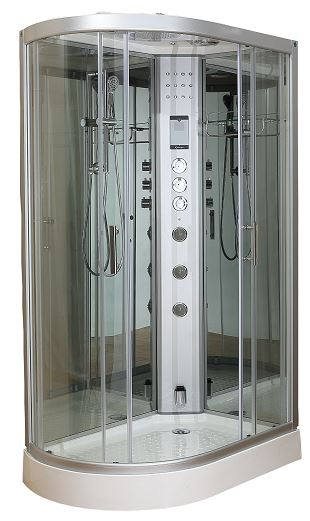 Clearwater 1200R offset steam shower right hand