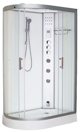 Clearwater 1200R Offset Steam Shower