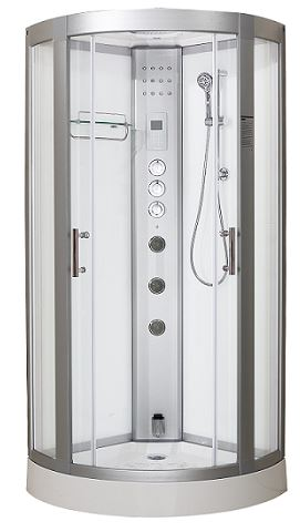 Essence 800 Steam Shower Cabin White