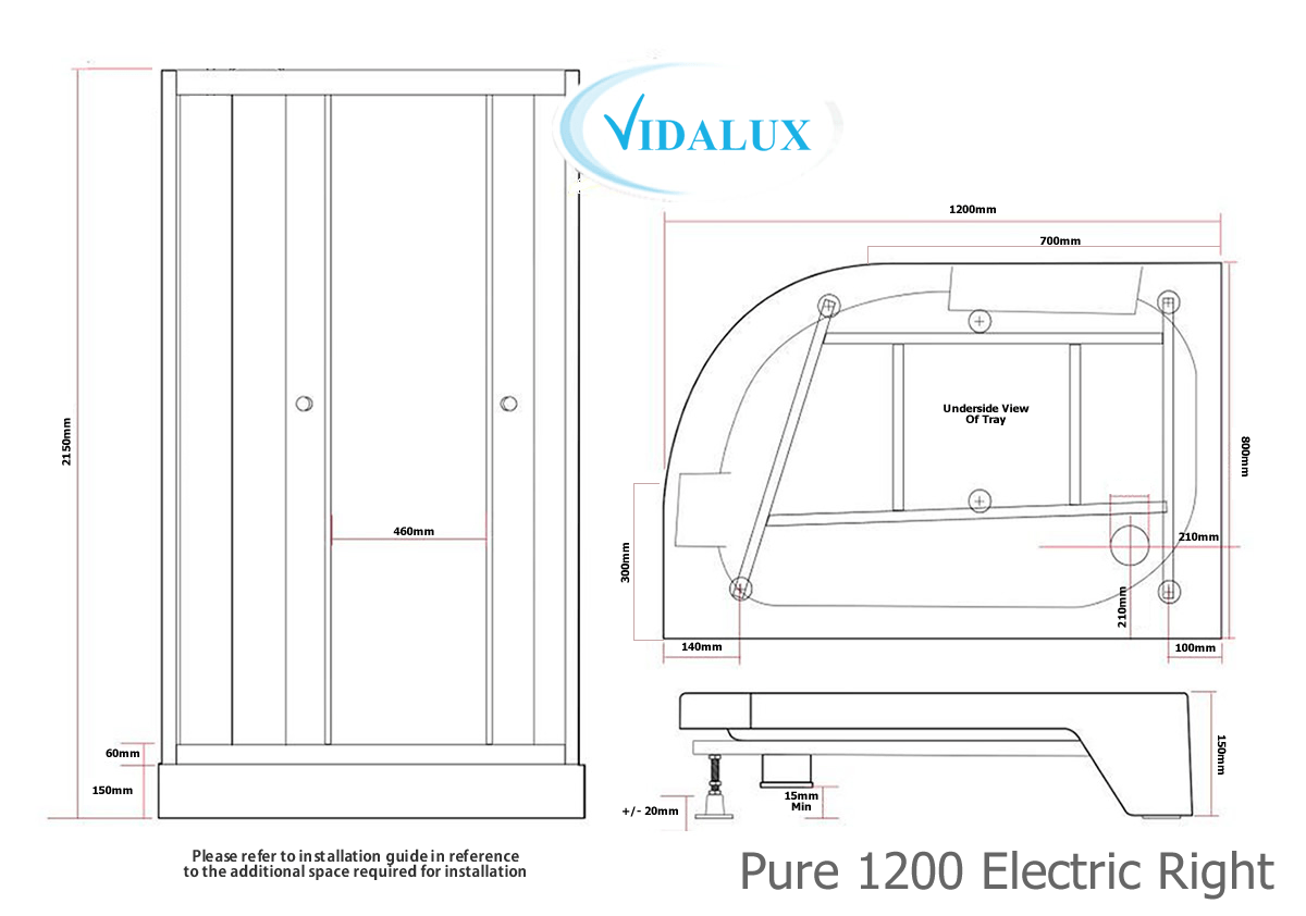 Pure E 900 Electric Shower Pod Schematic