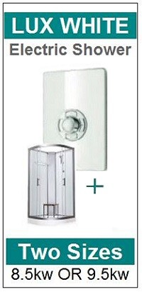 Pure Electric Shower Cabin Lux White