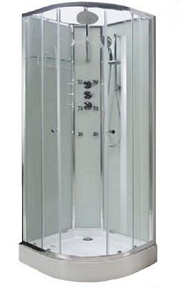 Lisna Waters Shower Cabins - LW16 White