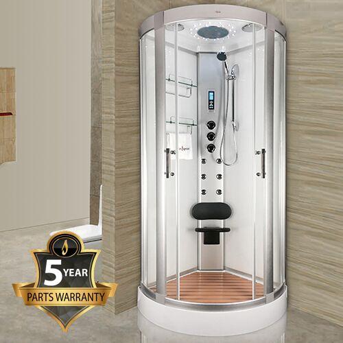 Insignia INS2000 White Glass 900 Shower Cabin | Smart