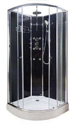 Lisna Waters Shower Cabins -  LW16 Black