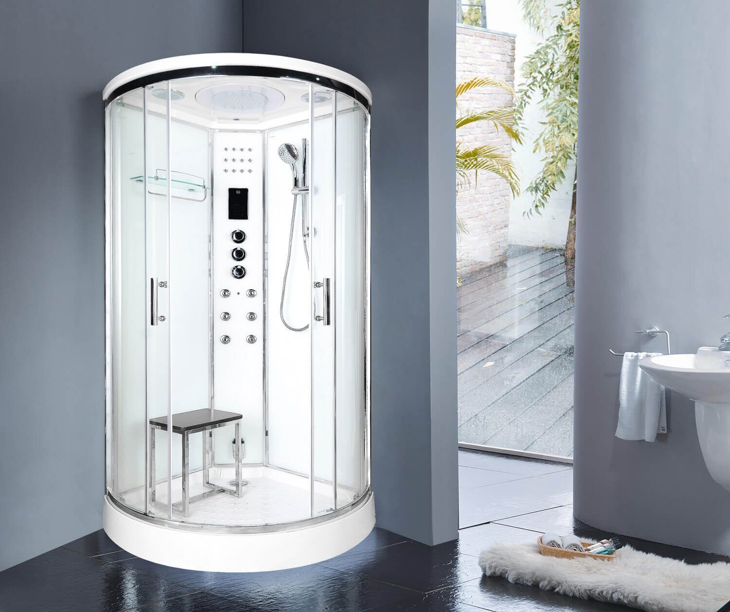 Lisna Waters Lwsl02 800mm Steam Shower White Smart Price