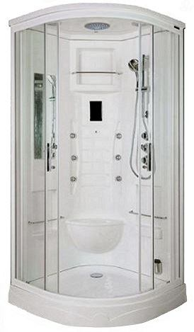 Lisna Waters LW19 steam shower white acrylic