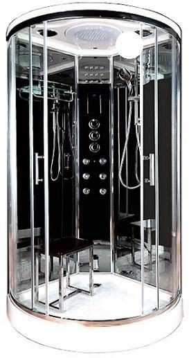 Lisna Waters LWSL01 steam function shower in black