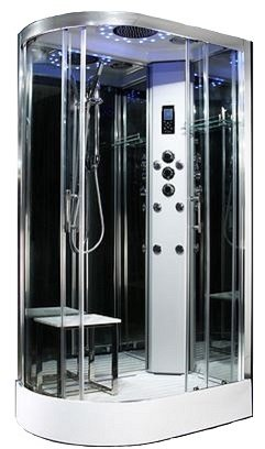 Platinum  R/H 1100mm x 700mm steam effect shower by Insignia with Chrome frame