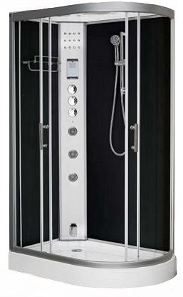 Clearwater 1200L black shower with steam