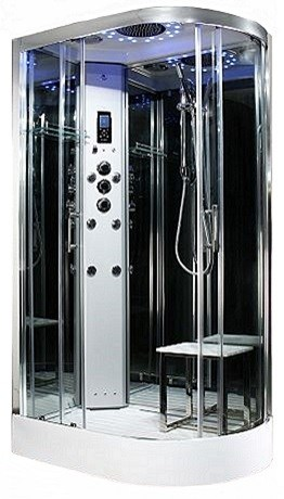 Insignia - Platinum 1100 x 700 L/H steam room shower by Insignia with Chrome frame.