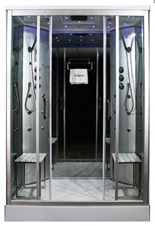 1400 x 900 twin steam shower
