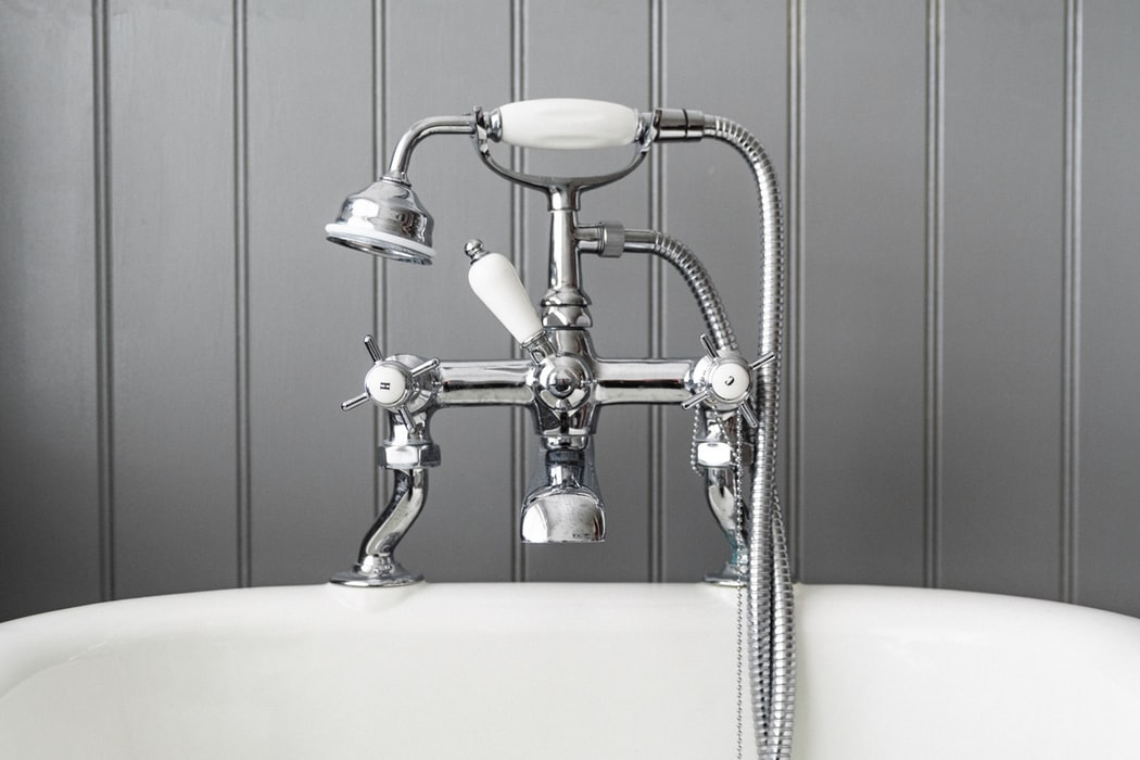 Grey Stainless Steel Bathtub Faucet