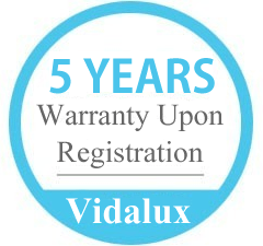 Vidalux 5 Year Warranty