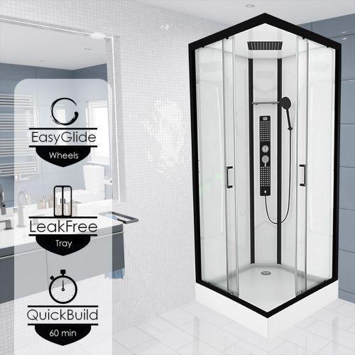 Monochrome Square Steam Shower