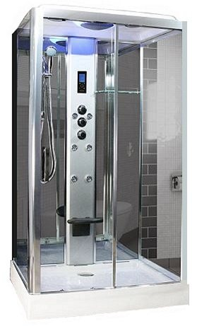 Chrome Frame Steam Shower
