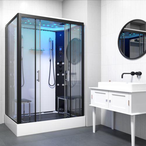 Monochrome Twin Steam Shower