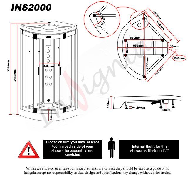 INS2000 Shower Features