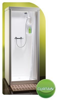 Kubex Kingston Compact Curtain Entry Shower Pod