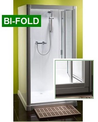 Shower Cubicle Kubex Profile 900 - Bi-Fold Door