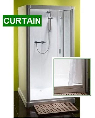 Shower Pod Kubex Profile 900 - Curtain Entry