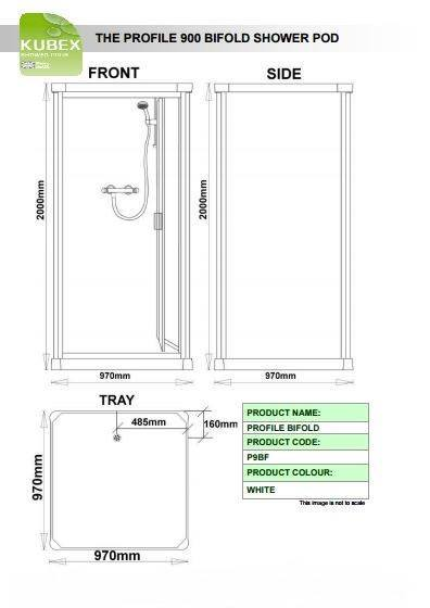 Kubex Profile 900 Schematic - Bi-Fold Door