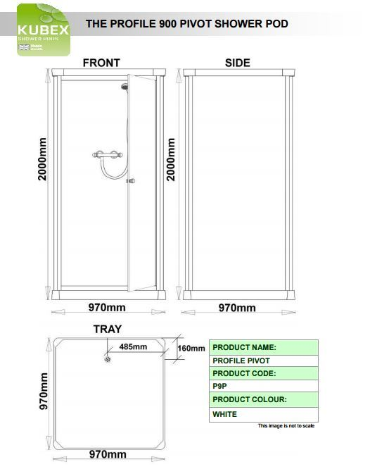 Kubex Profile 900 Schematic - Pivot Door